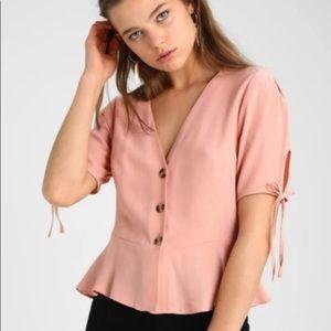 Topshop Light Pink Blouse